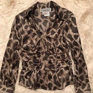 EUC Carlisle silk button down blouse